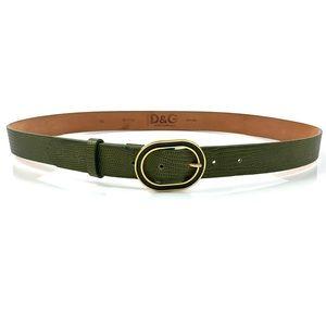 VTG DOLCE & GABBANA green snakeskin leather belt